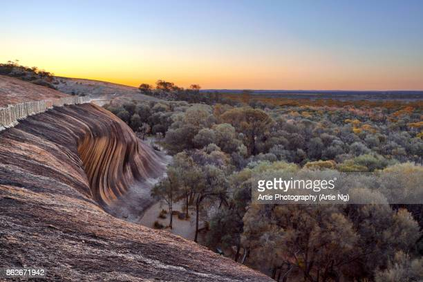 Sunrise at the Top of Wave Rock (Hyden Rock), Hyden, Western Australia