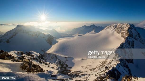 Sunrise at the Wilder Pfaff, 3456m, Stubai Alps, Tyrol, Austria