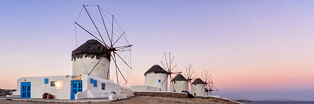 Sunrise at the windmills
