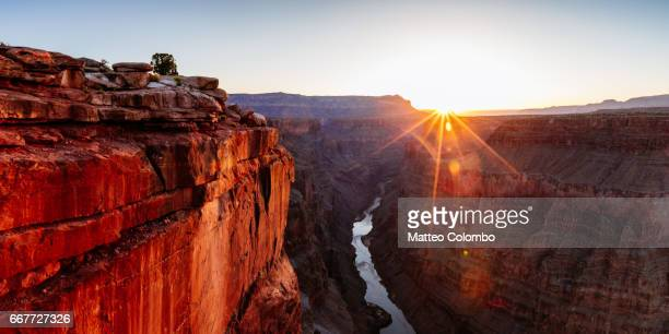 sunrise at toroweap point, grand canyon, usa - cañón tipo de valle fotografías e imágenes de stock