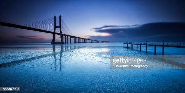 Sunrise at Vasco da Gama Bridge
