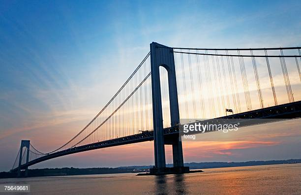 Sunrise at Verrazano bridge, New York, United States