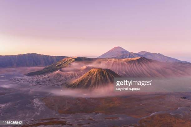 sunrise at volcano mt.bromo - mt bromo stock pictures, royalty-free photos & images