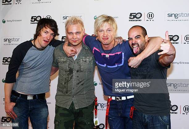Sunrise Avenue arrive at 'The Dome 50' at the Olympiahalle on May 22 2009 in Munich Germany