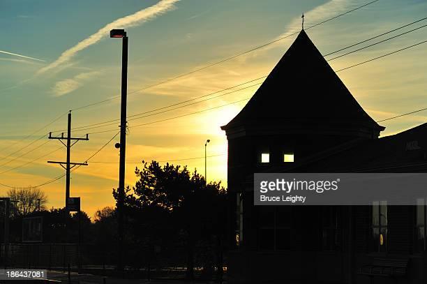 Sunrise Behind Depot
