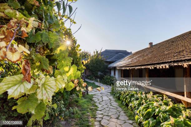 sunrise by the restaurant in butuceni - moldova stock pictures, royalty-free photos & images