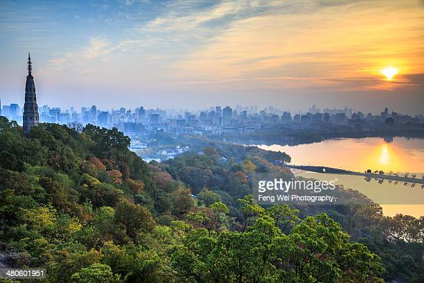 Sunrise By West Lake, Hangzhou China