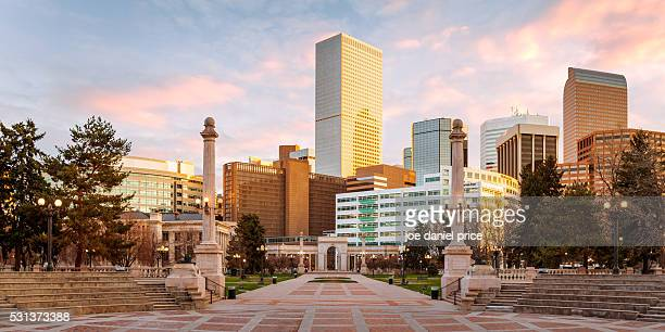 Sunrise, Civic Center Park, Denver, Colorado, America