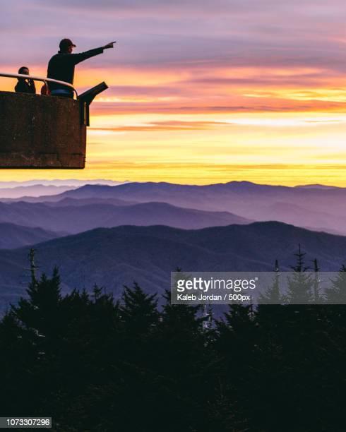 sunrise @ clingman's dome - clingman's dome fotografías e imágenes de stock
