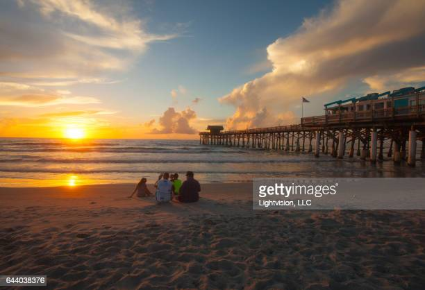 sunrise cocoa beach pier - cocoa beach stock pictures, royalty-free photos & images