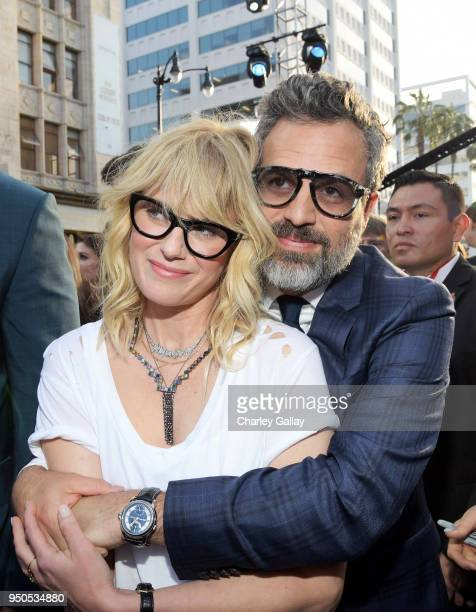 Sunrise Coigney and actor Mark Ruffalo attend the Los Angeles Global Premiere for Marvel Studios' Avengers Infinity War on April 23 2018 in Hollywood...