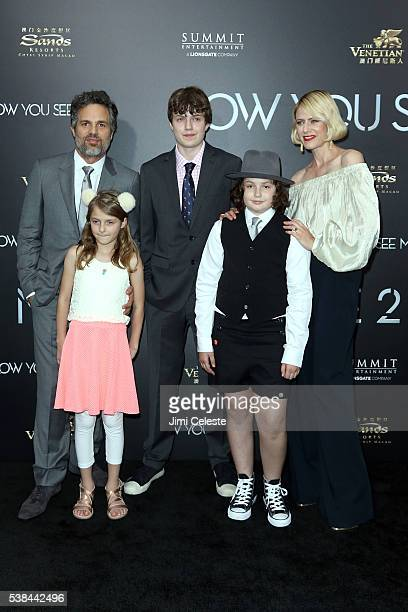 Sunrise Coigney and children Odette Ruffalo Keen Ruffalo and Bella Ruffalo attend Summit Entertainment presents the world premiere of Now You See Me...
