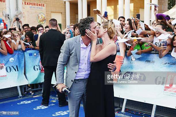 Sunrise Coigney and Marc Ruffalo attend Giffoni Film Festival 2015 photocall on July 18 2015 in Giffoni Valle Piana Italy