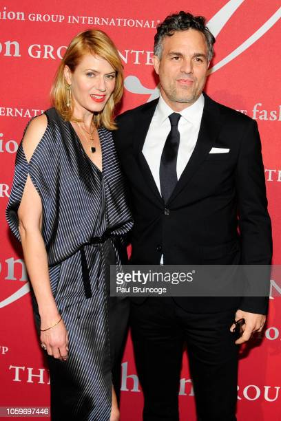 Sunrise Coigney and Mark Ruffalo attend Fashion Group International Night Of Stars 2018 at Cipriani Wall Street on October 25 2018 in New York City