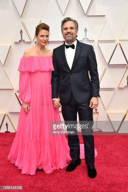 Sunrise Coigney and Mark Ruffalo attend the 92nd Annual Academy Awards at Hollywood and Highland on February 09 2020 in Hollywood California