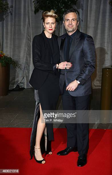Sunrise Coigney and Mark Ruffalo attend the after party for the EE British Academy Film Awards at The Grosvenor House Hotel on February 8 2015 in...