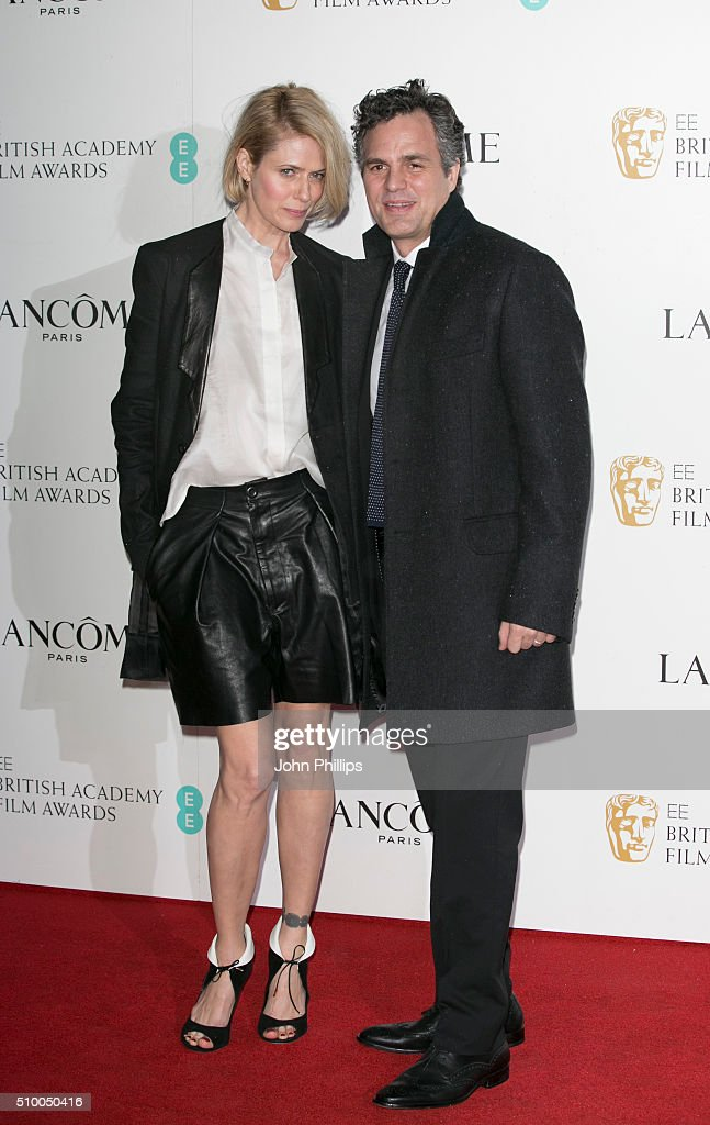 Sunrise Coigney and Mark Ruffalo attend the Lancome BAFTA nominees party at Kensington Palace on February 13, 2016 in London, England.