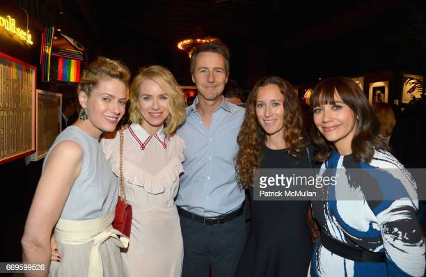 Sunrise Coigney Naomi Watts Edward Norton Shauna Robertson and Rashida Jones attend The Turtle Conservancy's 4th Annual Turtle Ball at The Bowery...