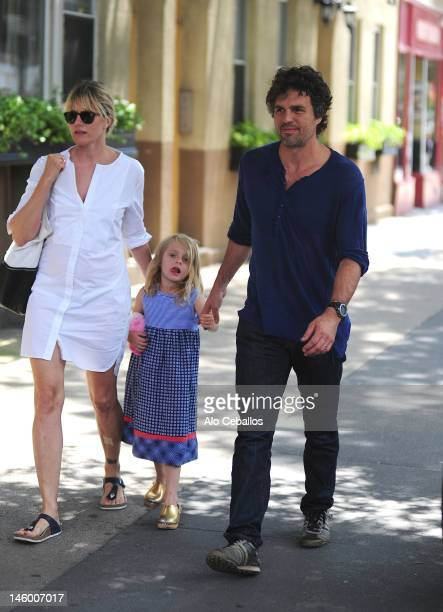 Sunrise Coigney Odette Ruffalo and Mark Ruffalo are seen on the streets of Manhattan on June 8 2012 in New York City