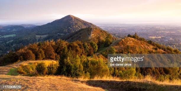 sunrise, colwall, malvern hills, malvern, worcestershire, england - worcestershire stock pictures, royalty-free photos & images