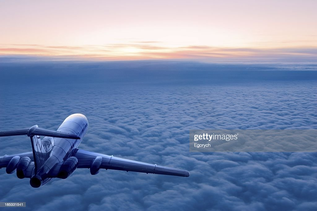 Sunrise flight : Stock Photo