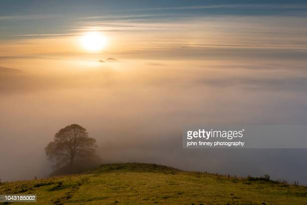 sunrise from chrome hill. english peak district. uk. - north stock pictures, royalty-free photos & images