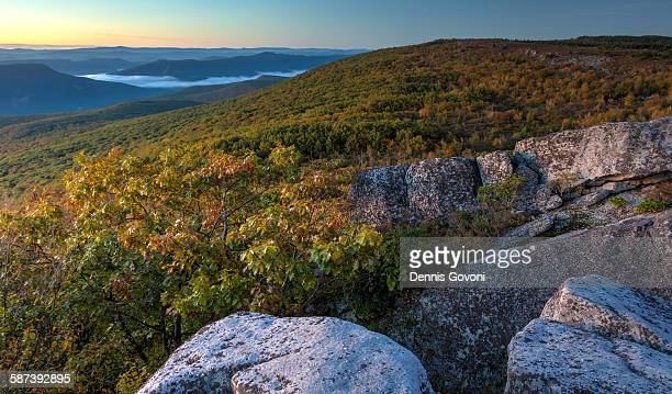 sunrise from dolly sods - monongahela national forest stock photos and pictures