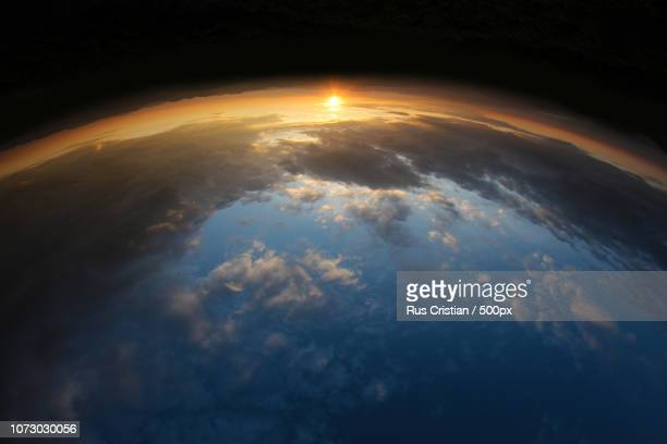 sunrise from outer space - cristian neri foto e immagini stock