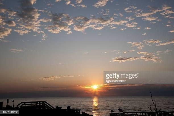 sunrise from st. simons island, georgia - saint simon's island stock pictures, royalty-free photos & images