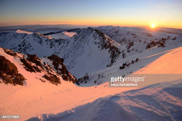 Sunrise from the highest Balkan Peninsula peak