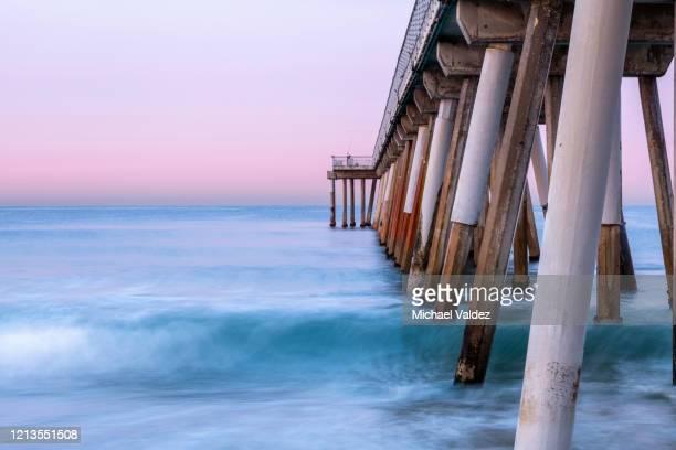 sunrise hermosa beach pier, california, usa - hermosa beach stock pictures, royalty-free photos & images
