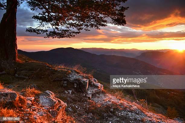 Sunrise in a mountain