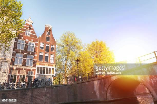 Sunrise in Amsterdam, Holland