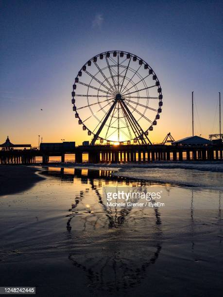sunrise in atlantic city - atlantic city stock pictures, royalty-free photos & images