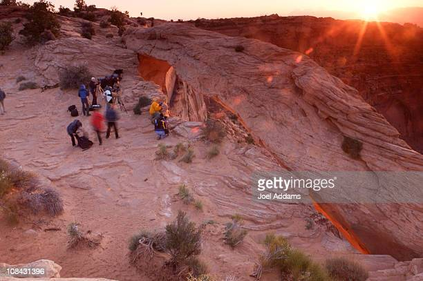sunrise in canyonlands national park, utah - mesa arch stock pictures, royalty-free photos & images