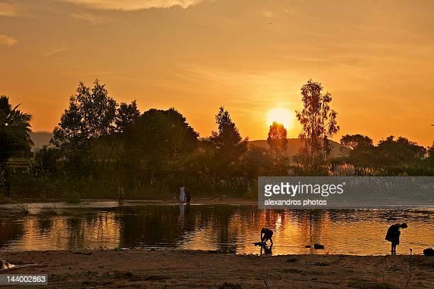 Sunrise in chitravati river