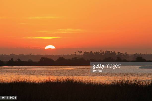 Sunrise in Citrus county, Florida with Crystal river in the foreground