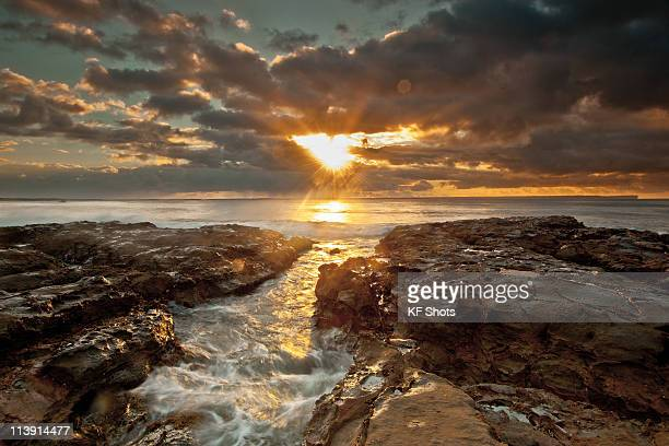 Sunrise in clouds on Jervis Bay