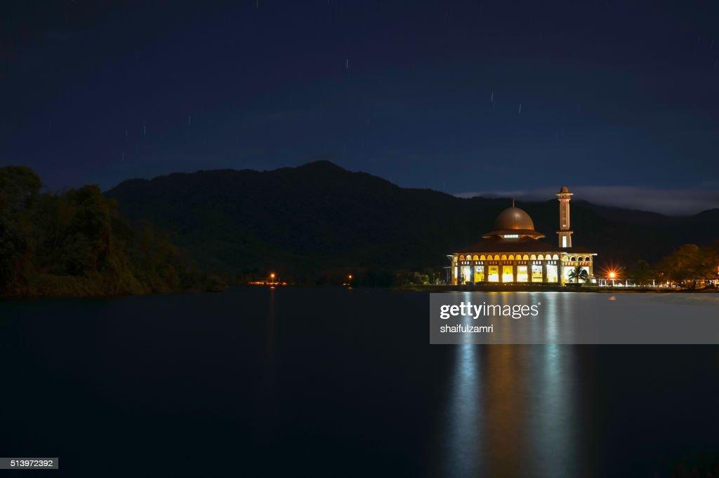 Sunrise in Darul Quran mosque : Stock Photo