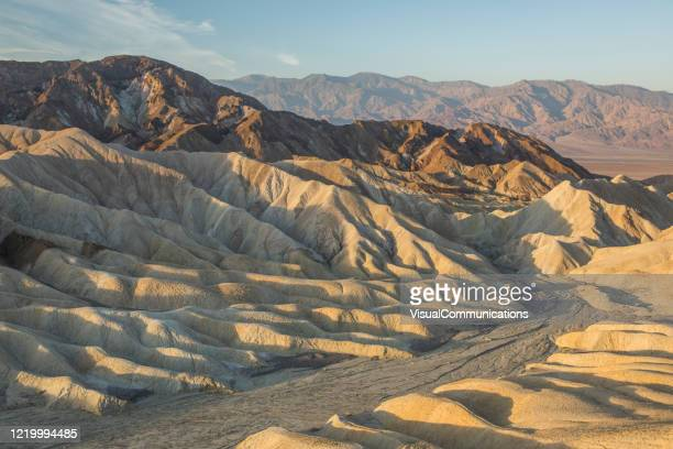 sunrise in death valley national park, us. - eroded stock pictures, royalty-free photos & images