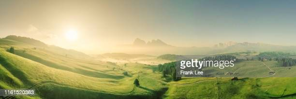 sunrise in dolomites alps,italy - alto adige italy stock pictures, royalty-free photos & images
