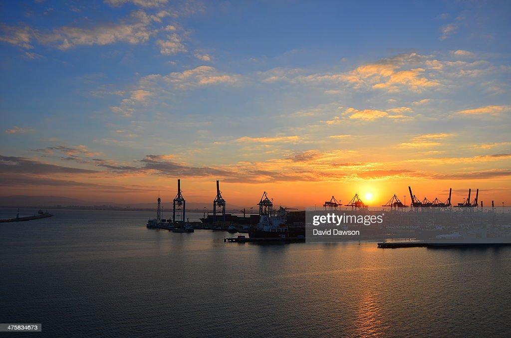 Haifa port sunrise, Israel D7K_4047 : News Photo