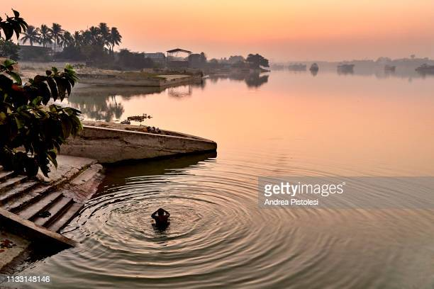 sunrise in kolkata river port, india - river ganges stock pictures, royalty-free photos & images