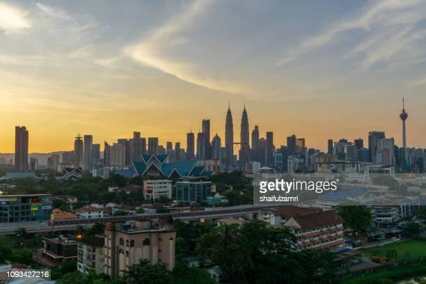 Sunrise in Kuala Lumpur, Malaysia.
