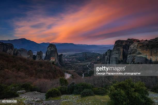 Sunrise in Meteora Greece
