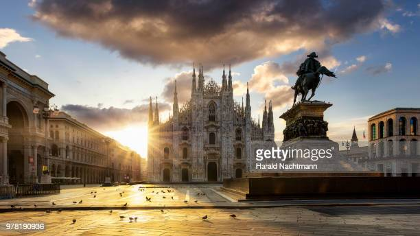 sunrise in milan - milan stock pictures, royalty-free photos & images
