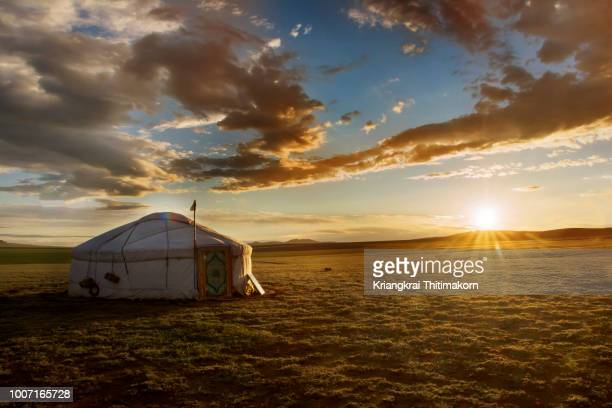 sunrise in mongolia. - independent mongolia stock pictures, royalty-free photos & images
