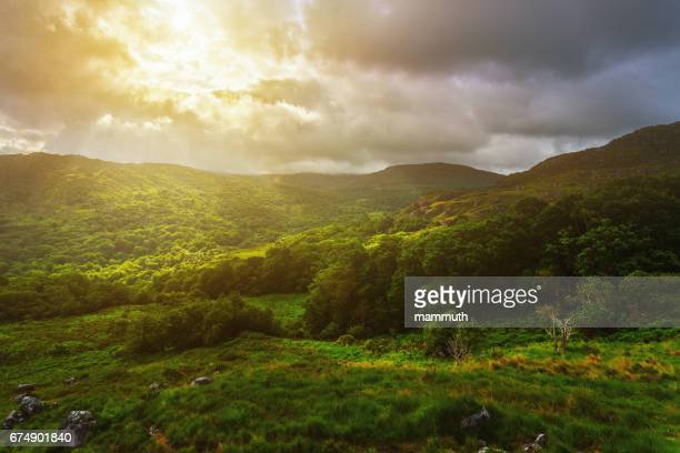 Sunrise in mountains, Ring of Kerry, County Kerry, Ireland