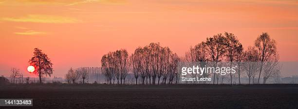 sunrise in piedmont - cuneo stock pictures, royalty-free photos & images