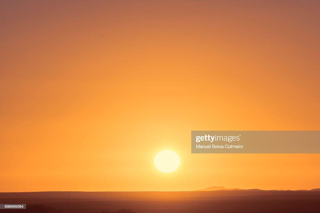 Sunrise in Sahara : Foto de stock